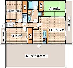 兵庫県神戸市東灘区魚崎南町5丁目の賃貸マンションの間取り