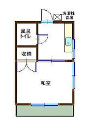 平川荘[201号室]の間取り