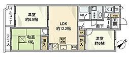 コートハウス町田[0108号室]の間取り