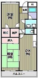エクセル三国ヶ丘[3階]の間取り