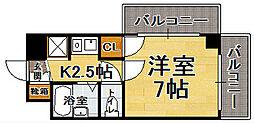 ソシアル六本松[8階]の間取り