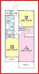 東京都台東区根岸3丁目の賃貸マンションの間取り
