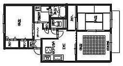 ラ・メール貝塚[2階]の間取り