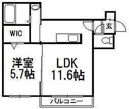 A BOND west[3階]の間取り