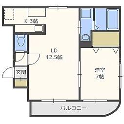 グランメールN19[2階]の間取り