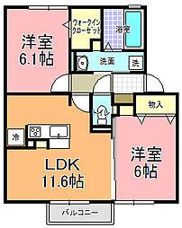仮)D−room寄井 K[202号室]の間取り
