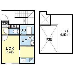 Remode(リ・モード) 1階ワンルームの間取り