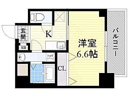 Luxe海老江2 6階1Kの間取り