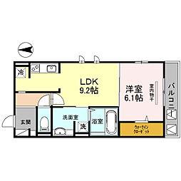 東桜館[301号室]の間取り