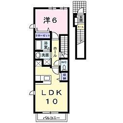 静岡県浜松市西区雄踏1の賃貸アパートの間取り