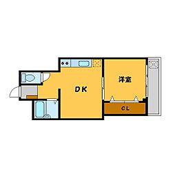 メタルメゾン[2階]の間取り