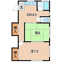 ハイツ津田[2階]の間取り