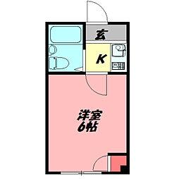 ジョイス千林 4階ワンルームの間取り