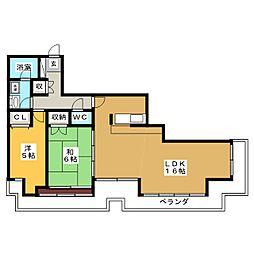 錦パークビル[22階]の間取り