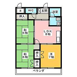 メゾンカワセ[3階]の間取り
