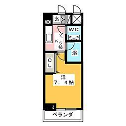 HF愛宕橋レジデンス[7階]の間取り