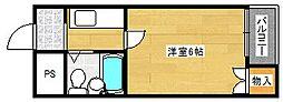 ラフォーレ千本南[5階]の間取り