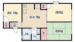 コーポラス渋谷1[101号室]の間取り