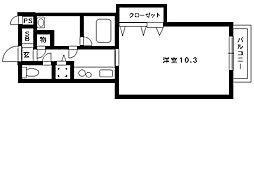阪急神戸線 岡本駅 3階建[107号室]の間取り
