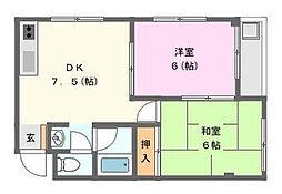 ココロ西明石[2階]の間取り