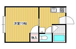 ライトコートMARUWA II[1階]の間取り