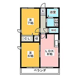 シャトレII[2階]の間取り