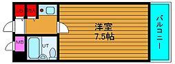 サンライズ千代崎[402号室]の間取り