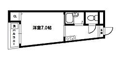 アドバンス豊新[3階]の間取り