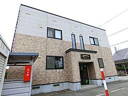 北海道江別市上江別の賃貸アパートの外観