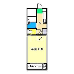 ヴェルデ・N[3階]の間取り