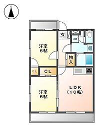 LE・SOLEIL 北館[2階]の間取り