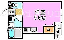 (仮称)東大阪市稲田上町1丁目計画 1階ワンルームの間取り