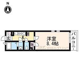 JR東海道・山陽本線 山崎駅 徒歩11分の賃貸マンション 3階1Kの間取り