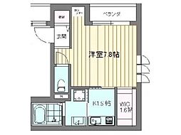 JR山手線 目白駅 徒歩5分の賃貸マンション 1階1Kの間取り