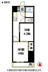 越谷第一マンション[4階]の間取り