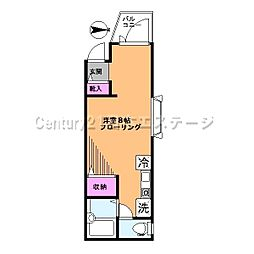 東京都目黒区自由が丘1丁目の賃貸アパートの間取り