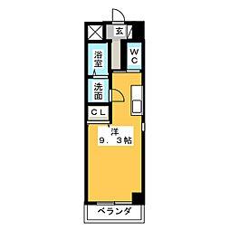 シーム・ドエル筒井[2階]の間取り