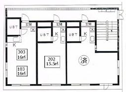 アサミハウス第3[2階]の間取り
