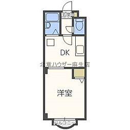 北海道札幌市北区北三十七条西7丁目の賃貸アパートの間取り