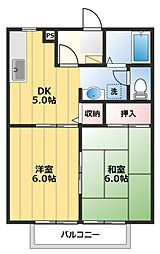 フレンズハイツA[1階]の間取り