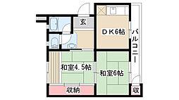 愛知県名古屋市天白区久方1丁目の賃貸マンションの間取り