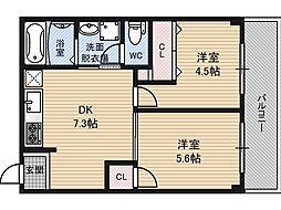 新大阪ハイツさこ[3階]の間取り