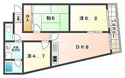 ロイヤルハイツ木村2号館[3階]の間取り