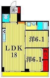松戸インペリアル[5階]の間取り