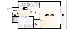 大阪府大阪市浪速区塩草2丁目の賃貸マンションの間取り