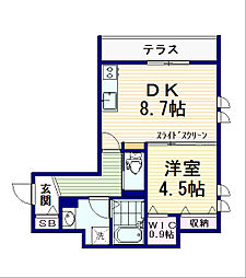 Vent Vert中野富士見町[102号室]の間取り