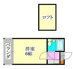 ジュネパレス津田沼第1[2階]の間取り