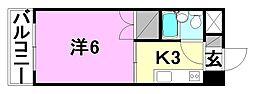 宮田ビル[303 号室号室]の間取り