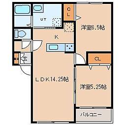 北海道札幌市東区北十八条東19丁目の賃貸アパートの間取り