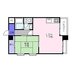 第2サンハイム[5階]の間取り